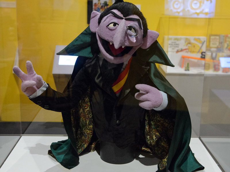 The Count puppet from Sesame Street
