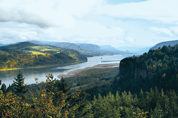 The Columbia River Gorge and Crown Point
