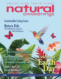 April 2021 Cover of Natural Awakenings Chicago Magazine with animated birds, butterflies and flowers
