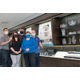 The Piette family shown L-R Ross Jen Ryan Rita and Roland masked as then required in the showroom of their new store in Dean Bank Plaza Bellingham