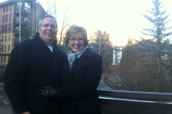 Harvey and Leah in Breckenridge