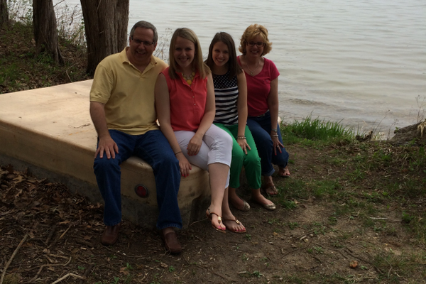 Oates family at the lake