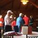 Event organizer Jerry Selissen announces raffle winners after the Tewksbury Memorial Day 5K Fun Run.