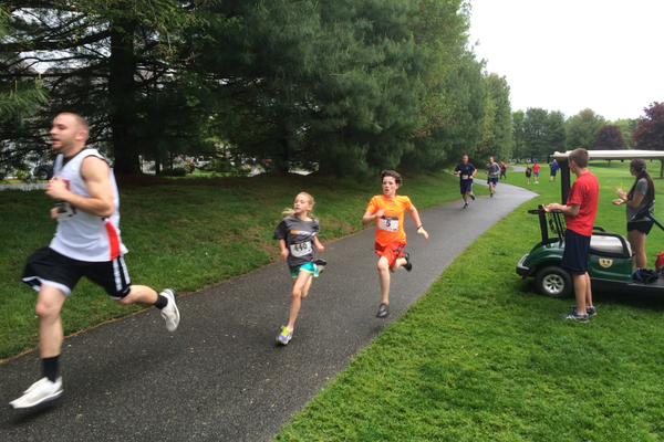 Makayla Paige and Joseph Balboni were among more than 300 runners competing at the Tewksbury Memorial Day 5K Fun Run.