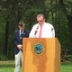 Todd Johnson, chairman of the Board of Selectmen, speaks at the Tewksbury Memorial Day Ceremony.