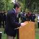 State Sen. Barry Finegold speaks at the Tewksbury Memorial Day Ceremony.