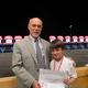 4th Grade Winner: Alex Cranston with Dr. O'Connor