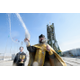 An Orthodox priest blesses members of the media on the Soyuz launch pad in Kazakhstan. (#19)