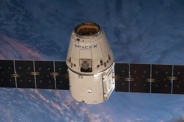 The arrival of the SpaceX Dragon at the International Space Station. (#7)
