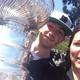 Mayor Amy Howorth and Jonathan Quick with the Cup.