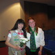 Stephanie Geiser, right, awards Tewksbury High's Cassie Froio with her Girl Scouts Gold Award.