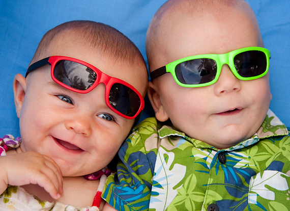 Babies in sunglasses