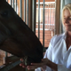 "Patti Lessard, director of Strongwater Farm, and ""Trial"", one of nine horses presently working at the facility."