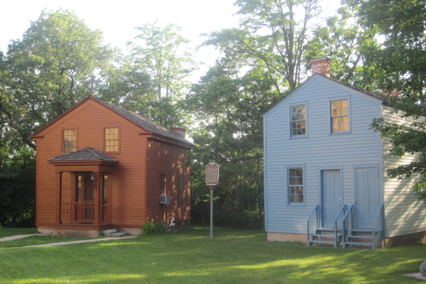 Red Chapel and Blue House at Nashotah House