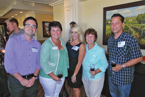 San Clemente Chamber of Commerce hosted a Joint Mixer with the Dana Point Chamber at Bella Collina Towne & Golf July 17 .Joe Ames, Mikki Rathmann, Mary Johnson, Josie and Tim Rietkerk.