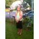 Theresa Bello is dressed to the nines as she prepares for her first day in the 8th grade.