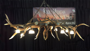 Medium elk antler pool table bar light chandelier 1